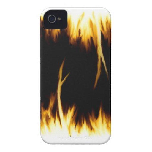 Caso del fuego iPhone 4 Case-Mate carcasa