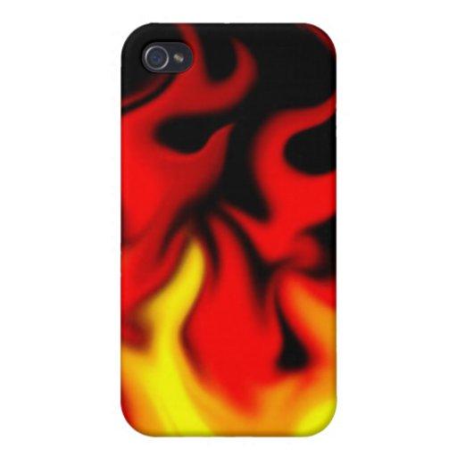 caso del fuego para los muchachos iPhone 4 carcasas
