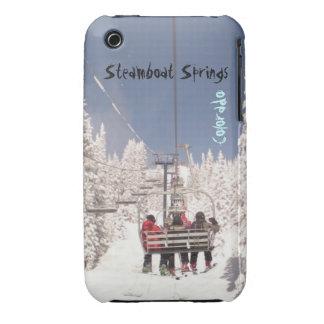 Caso del funcionamiento de esquí de Steamboat iPhone 3 Case-Mate Cobertura