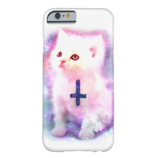 Caso del gatito del espacio funda barely there iPhone 6