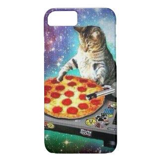 caso del gato de la pizza de DJ del iPhone 7 Funda iPhone 7