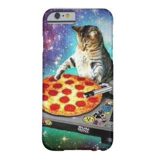 Caso del gato de la pizza de Iphone 6 DJ Funda Barely There iPhone 6