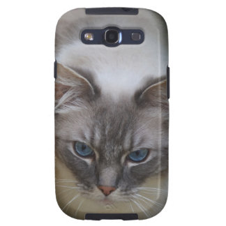 Caso del gato de Ragdoll para la galaxia SIII de S Galaxy S3 Carcasa