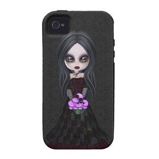 Caso del gótico del iPhone lindo 4 del chica y de iPhone 4/4S Fundas