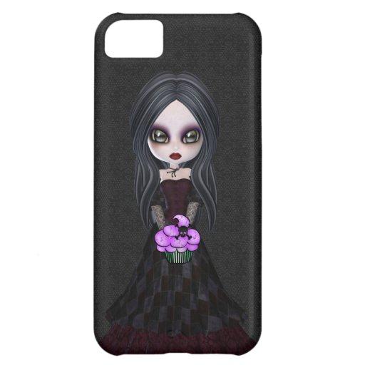 Caso del gótico del iPhone lindo 5 del chica y de Carcasa Para iPhone 5C
