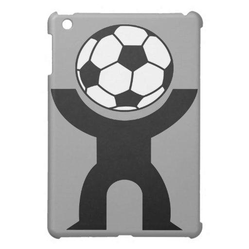 caso del individuo del fútbol del iPad