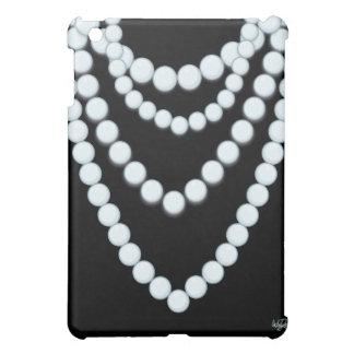 Caso del iPad 1 del negro del collar de la perla