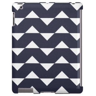 Caso del iPad 2/3/4 de Chevron de los azules marin