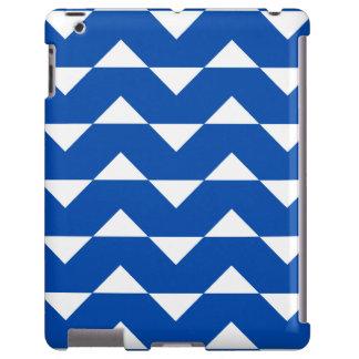 Caso del iPad 2/3/4 de Chevron del azul de cobalto