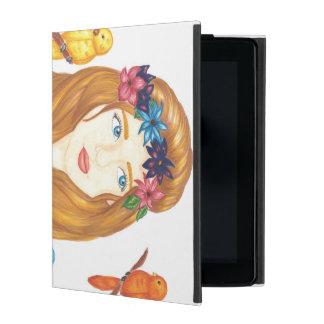 Caso del iPad 2/3/4 del chica del pájaro iPad Coberturas
