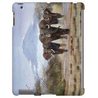 caso del iPad 2/3/4 del elefante de Kilimanjaro Funda Para iPad