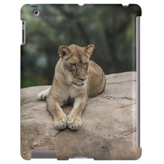 Caso del iPad 2/3/4 del león Funda Para iPad
