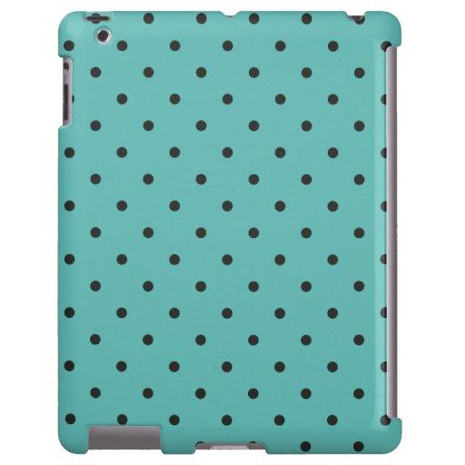 Caso del iPad 2/3/4 del lunar de la turquesa del