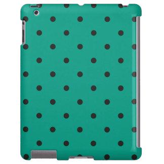 caso del iPad 2 3 4 del lunar del verde del estilo