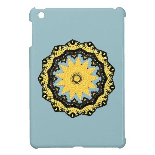 Caso del iPad abstracto del caleidoscopio Sun y de iPad Mini Funda