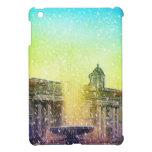 Caso del iPad amarillo azul del arte de la fuente  iPad Mini Protectores