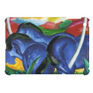 Caso del iPad azul de los caballos de Franz Marc m iPad Mini Cárcasas