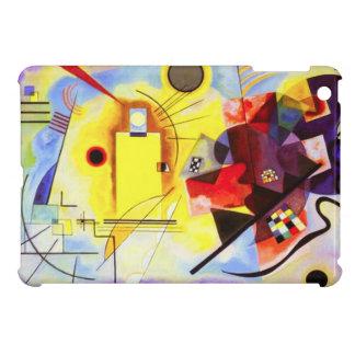 Caso del iPad azul rojo amarillo de Kandinsky mini