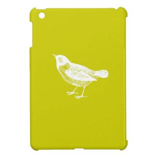 Caso del iPad blanco del pájaro del amarillo de la iPad Mini Protector