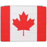 Caso del iPad de Apple de la bandera de Canadá Cubierta De iPad