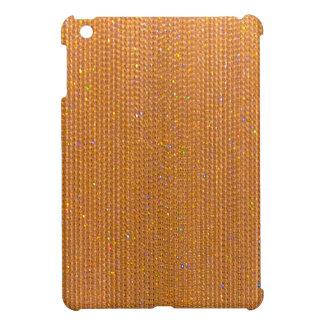 Caso del iPad de Bling del oro brillante mini