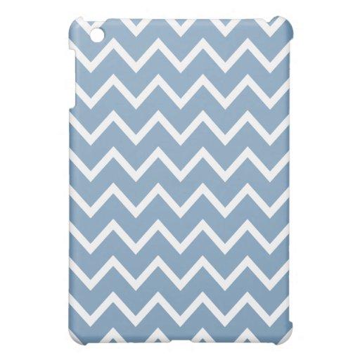 Caso del iPad de Chevron mini - azul de la