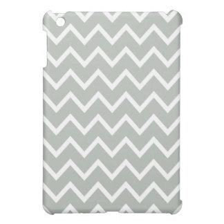 Caso del iPad de Chevron mini - gris plateado