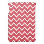 Caso del iPad de Chevron mini - rojo de la amapola iPad Mini Cárcasa