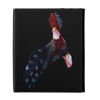Caso del iPad de Eagle calvo de la bandera america