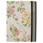 Caso del iPad de encargo del papel pintado floral