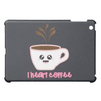 Caso del iPad de Kawaii del café del corazón I