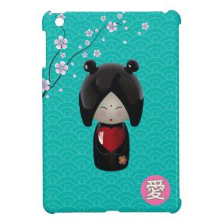 Caso del iPad de Kokeshi del amor mini
