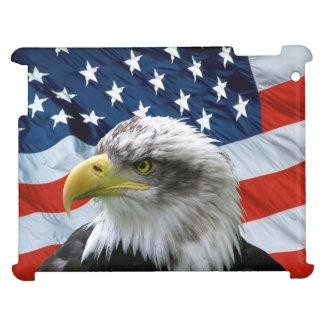 Caso del iPad de la bandera americana de Eagle cal