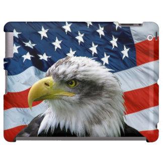 Caso del iPad de la bandera americana de Eagle cal Funda Para iPad