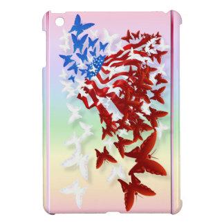 Caso del iPad de la bandera de la mariposa el mini