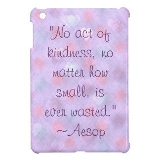 Caso del iPad de la cita de la amabilidad de Esopo