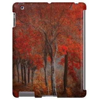 Caso del iPad de la escena del bosque del vintage
