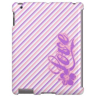 Caso del iPad de la flor del hibisco del amor