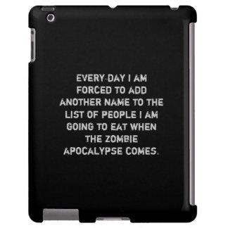 caso del iPad de la lista de la comida del zombi