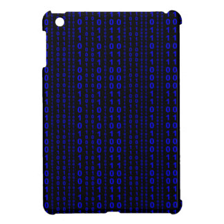 Caso del iPad de la lluvia del código binario mini