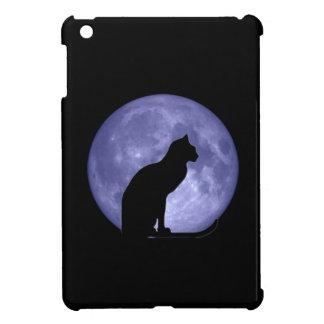 Caso del iPad de la luna azul del gato negro mini iPad Mini Carcasas