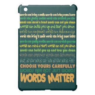 Caso del iPad de la materia de las palabras