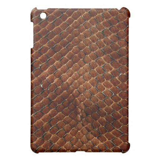 Caso del iPad de la mota de la piel de serpiente