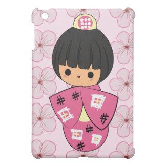 Caso del iPad de la muñeca de Kawaii Kokeshi