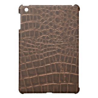 Caso del iPad de la piel del cocodrilo