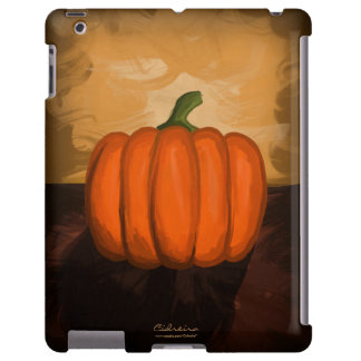 Caso del iPad de la pintura de la calabaza