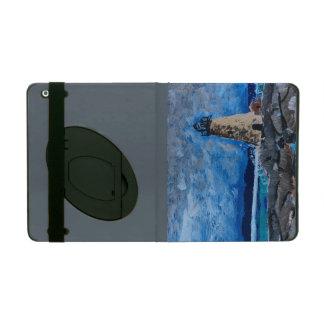Caso del iPad de la pintura del faro con Kickstand