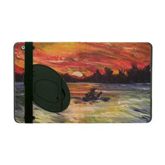 Caso del iPad de la pintura del Kayaker de la