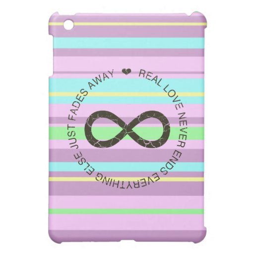 Caso del iPad de la raya del caramelo del infinito iPad Mini Fundas