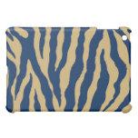 Caso del iPad de la raya del tigre del azul/del or